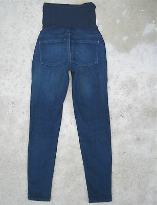 Pea in the Pod Skinny Ankle Maternity Jeans Sz 27 Wide Panel Stretchy Dark Blue