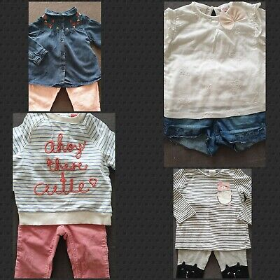 BABY Girls 9-12 month  Bundle, 8 items, ZARA, NEXT, MOTHERCARE, GAP
