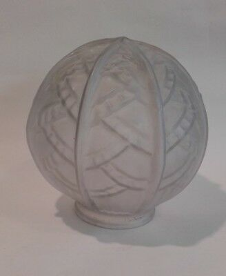Original Art Deco Opaque Globe Glass / lamp Shade for Table Lamp.