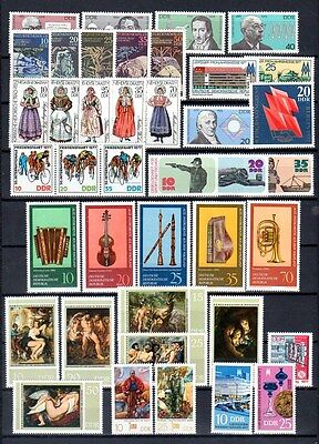 East-Germany/DDR/GDR: All stamps of 1977 in a year set complete, MNH