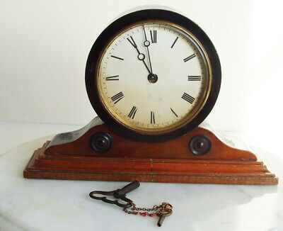 Antique French Mantel Desk Clock Working