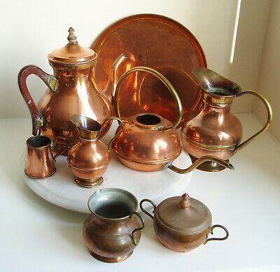 Job Lot of Vintage Copper & Brass items