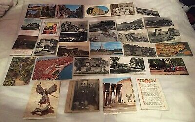 30 Vintage Postcards 1900s-70s Ultra Rare English Castles Poems Country Antique