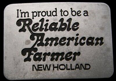 Ic04101 Vintage 1982 **Reliable American Farmer** New Holland Buckle