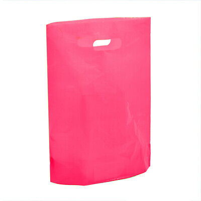 Strong Fuscia Pink Plastic Shopping Carrier Bags Retail Shopping Carrier Bags