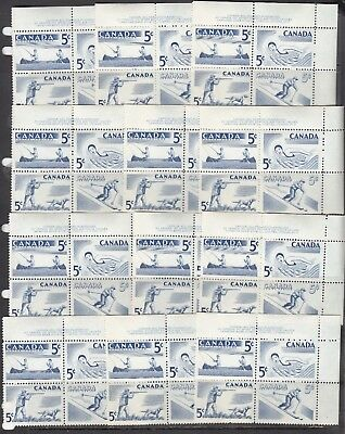 Canada -#365-8  12 Recreation Mnh Plate Blocks All The Same - Cv 39.60 - Scan!