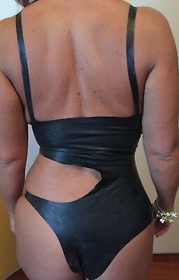 Black latex body/swimsuit