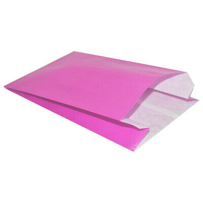 Strong Bright Pink Kraft Satchel Paper Bags - Paper Gift Sweet Wedding Party Bag