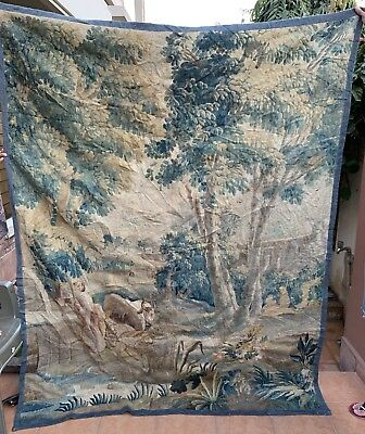 Antique French Aubusson Tapestry 18th-Century Verdure 173 X 224 Cm
