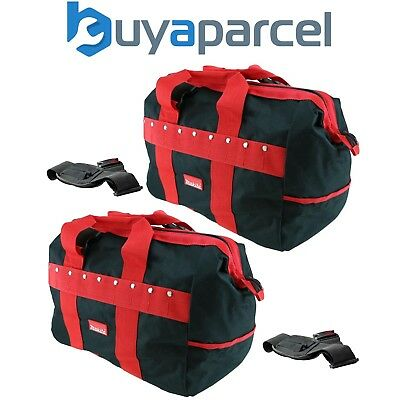 "2x Makita Tradesmans Holdall Tool Bag 17"" 43cm Red Black Pockets Shoulder Strap"