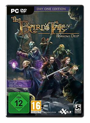 The Bards Tale (IV) 4 - Barrows Deep - D1 Day One Pc Nuovo + Conf. Orig.