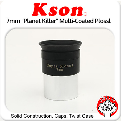 "Kson 1.25"" 7mm Fully Multi-Coated Super Plossl Eyepiece with Quality Twist Case"