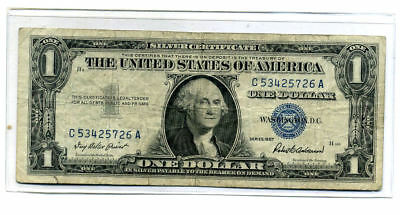 1957 Silver Certificate Us Paper Money One Dollar Bill C53425726A Us$1 Note#4380