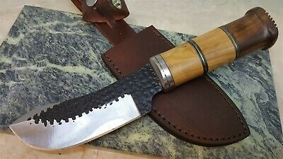 Antique hunter High Carbon Steel Fixed Blade Knife Includes Leather Sheath
