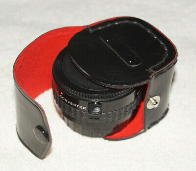 Focal MC 2X Converter Lens 20-06-42 with caps and case