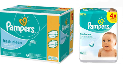 Pampers Wet Wipes Baby Cloths Fresh Clean Monatspack Cloths Advantage Pack