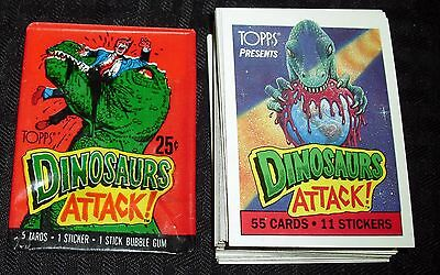 1988 Vintage Topps *dinosaurs Attack* Card Set (1-55) Mint Condition Wh36-15