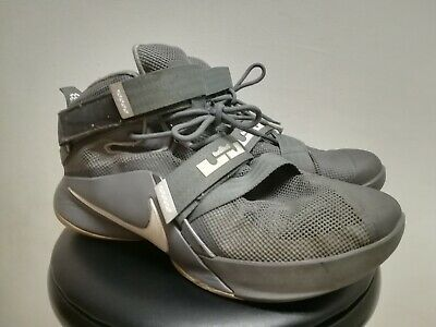newest 9c6e5 b9a6d NIKE ZOOM LEBRON James Soldier IX 9 Gray Basketball Shoes 13 749417-003