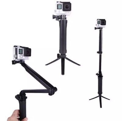 3Way Hand Grip  Selfie Stick Tripod Mount Monopod Adjustable Bracket 2 3+ 4 5