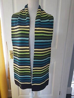 Vintage Fred Perry Knitted Stripe Scarf