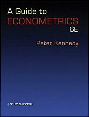 [PDF] A Guide to Econometrics. 6th edition 6th Edition by Peter Kennedy