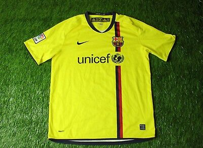 5d00002e7 Barcelona Barca Spain 2008 2010 Football Shirt Jersey Away Nike Original  Size L