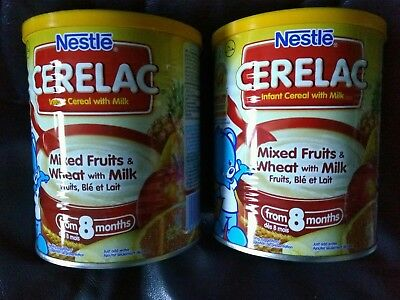 2 x 400g NESTLE CERELAC - Mixed Fruits and Wheat with Milk - INFANT CEREAL