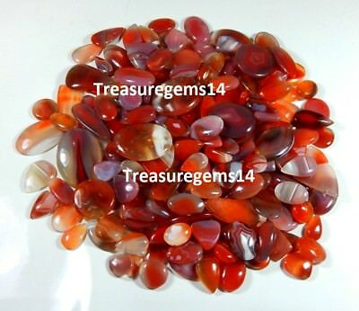 250 Ct Top Wholesale Lot Natural Red Botswana Banded Agate Mix Cabochon Gemstone