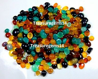 200Ct Top Wholesale Lot Natural Multi Onyx Mix Ring Size Cabochon Loose Gemstone