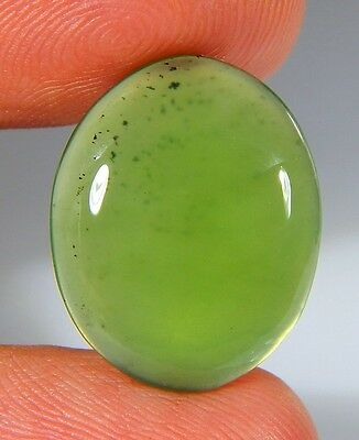 09 Ct Natural Ring Size Deep Green Serpentine  Jade Oval  Cabochon  Gemstone A82