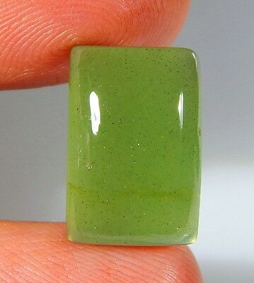 09Ct Natural Ring Size Deep Green Serpentine Jade Octagon Cabochon Gemstone A204