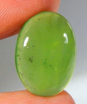 09 Ct Natural Ring Size Deep Green Serpentine  Jade Oval Cabochon  Gemstone A117