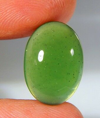 08 Ct Natural Ring Size Deep Green Serpentine  Jade Oval Cabochon  Gemstone A156