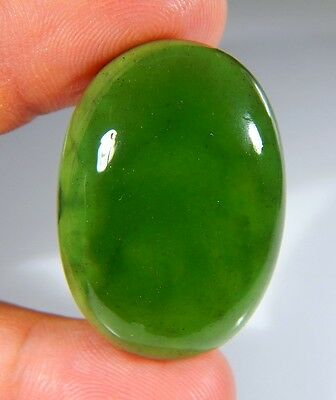 66 Ct Top Natural Green Emerald Color Serpentine Jade Oval Cabochon Gemstone A01