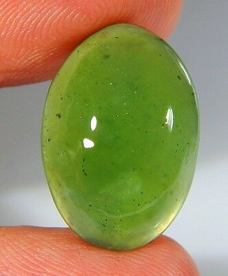13 Ct Natural Ring Size Deep Green Serpentine  Jade Oval Cabochon  Gemstone A106