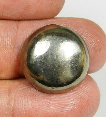 23 Ct Pendant Size Natural Apache Gold Pyrite Round Cabochon Loose Gemstone B322