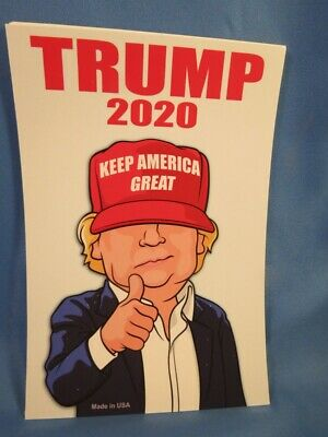 WHOLESALE LOT OF 10 TRUMP CHARACTER STICKER RED HAT KEEP AMERICA GREAT make USA