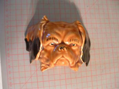 Vintage Pottery Dogs Head wall plaque  Floppy ears