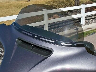 2014/19 Harley Gloss Black PC 4 Slot Windshield Trim - Batwing Fairing
