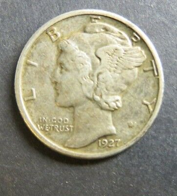 United States USA  Coin - Dime 10 Cents - 1927