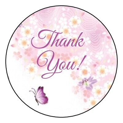 "SEAL LABELS THANK YOU PRETTY FLOWERS #12 ~  1/"" STICKER"