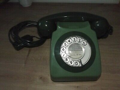 Gpo Telephone 746 Green Vintage In Original Condition Spares Repair