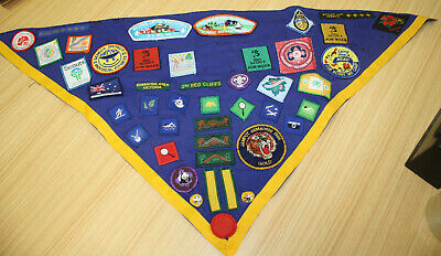 Vintage Cub Scout Scarf With Patches Badges