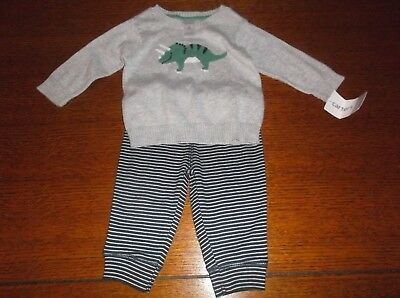 a9271da633ad Brand New Carter s Baby Boy 2 Piece Sweater   Pants Outfit Set Size ...