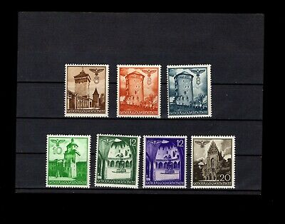 Germany Occupied Poland WWII Two Sets Buildings 1940 & 1941 Mint Never Hinged Q