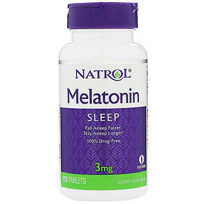 Vegetarian tablets Natrol  STRESS RELIEF SLEEP AID 3 mg 120 Standard Tablets***