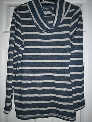 SONOMA WOMENS Striped Long-Sleeve Pullover Turtleneck Shirt TOP, Sz M