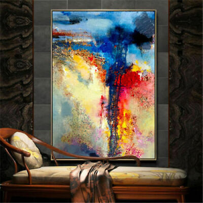 Large Hand-Painted Abstract Oil Painting Home Decor Art Wall on Canvas