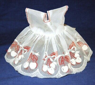 "1950s Vintage Sheer w/ Cherries DRESS for 8"" Doll Ginger Ginny Muffie"