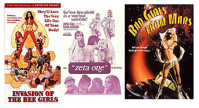 BAD GIRLS FROM MARS,INVASION OF THE BEE GIRLS,ZETA ONE(THE LOVE FACTOR), Rated R